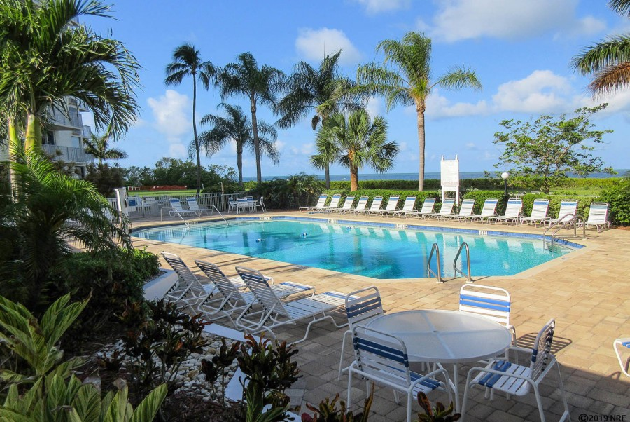 Resort Pool and Sundeck at Estero Beach And Tennis Club