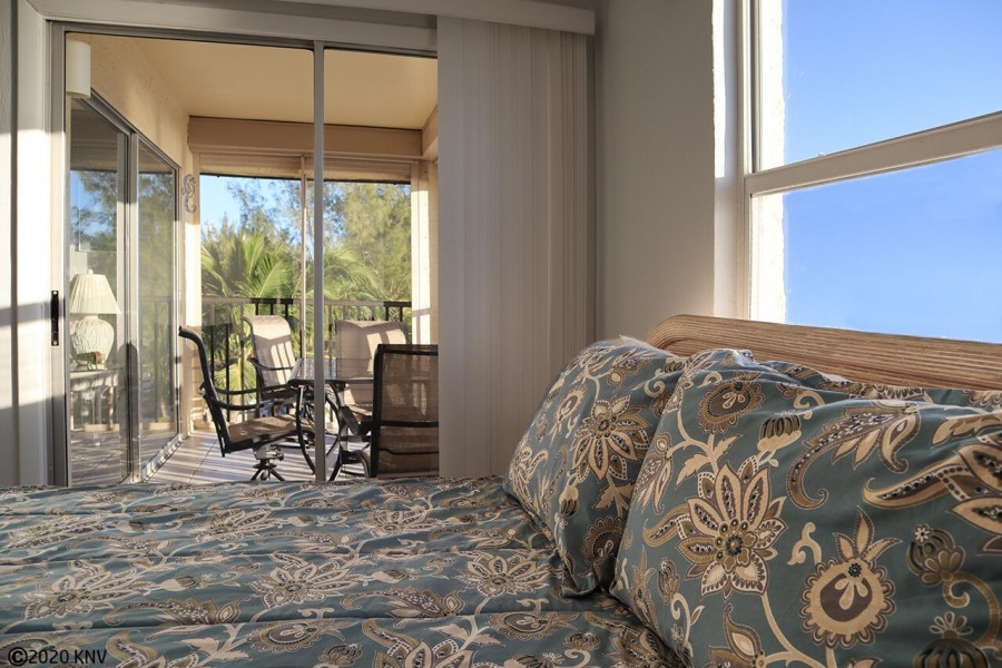 Master Bedroom has private lanai access.