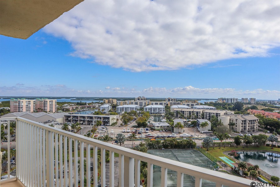 Looking East on your balcony offers views of the island all the way to the Bay