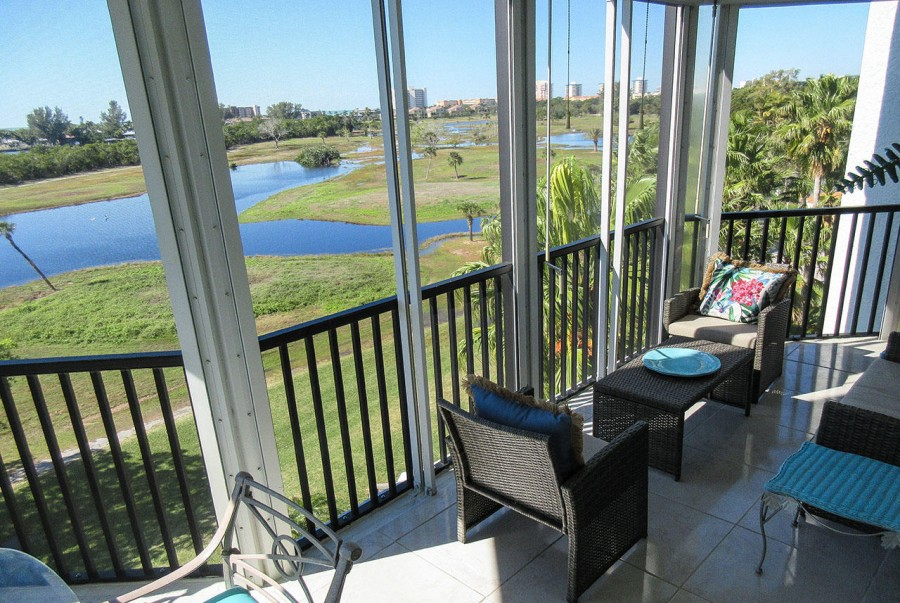 Fabulous View from Huge Lanai at the Luxury Waterside 143