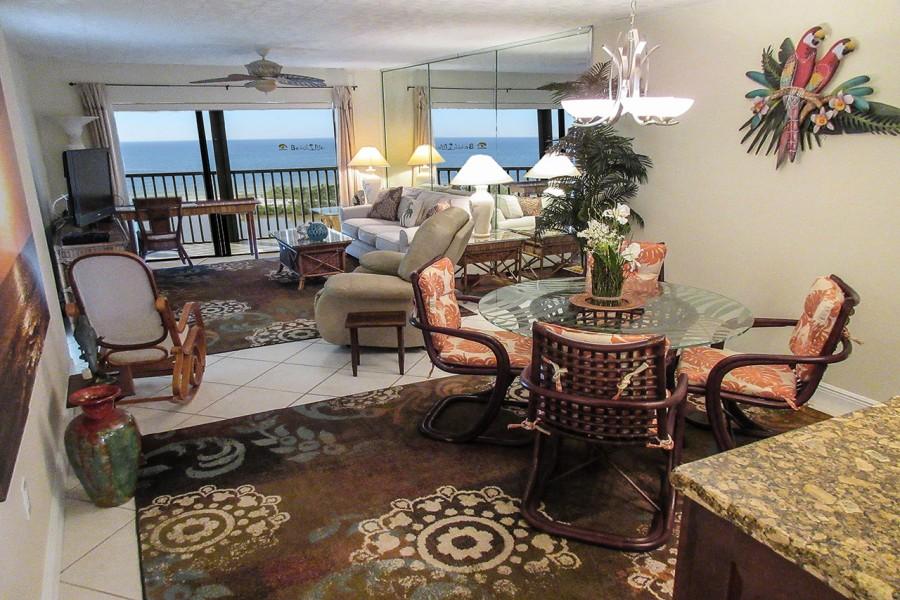 Terra Mar 903 is a 2 bedroom, 2 bath 9th floor beachfront condo