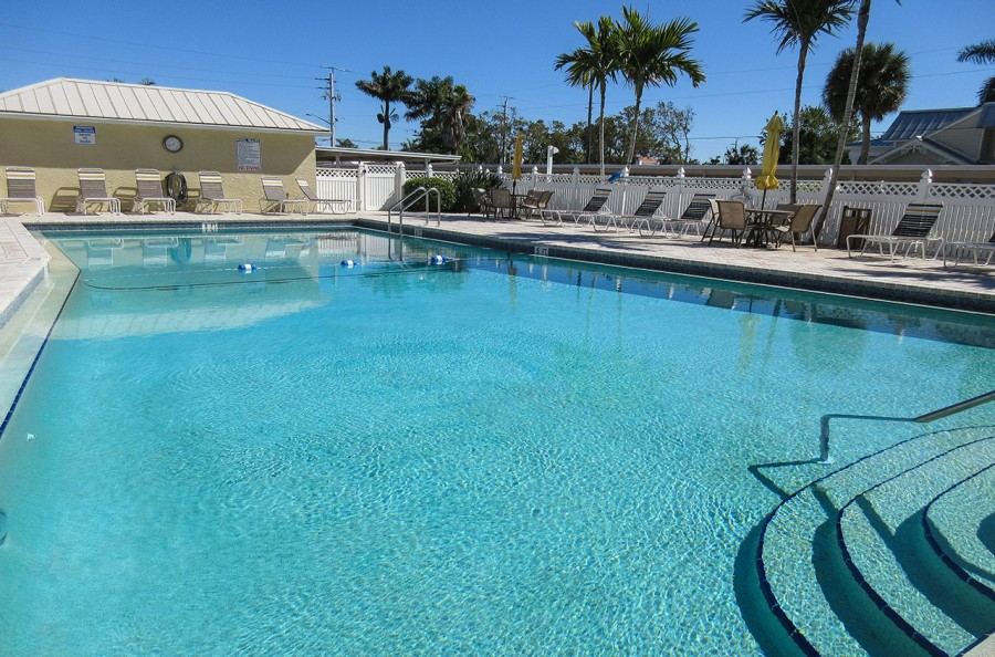 Sand Caper Resort Sized Heated Pool and Sun Deck