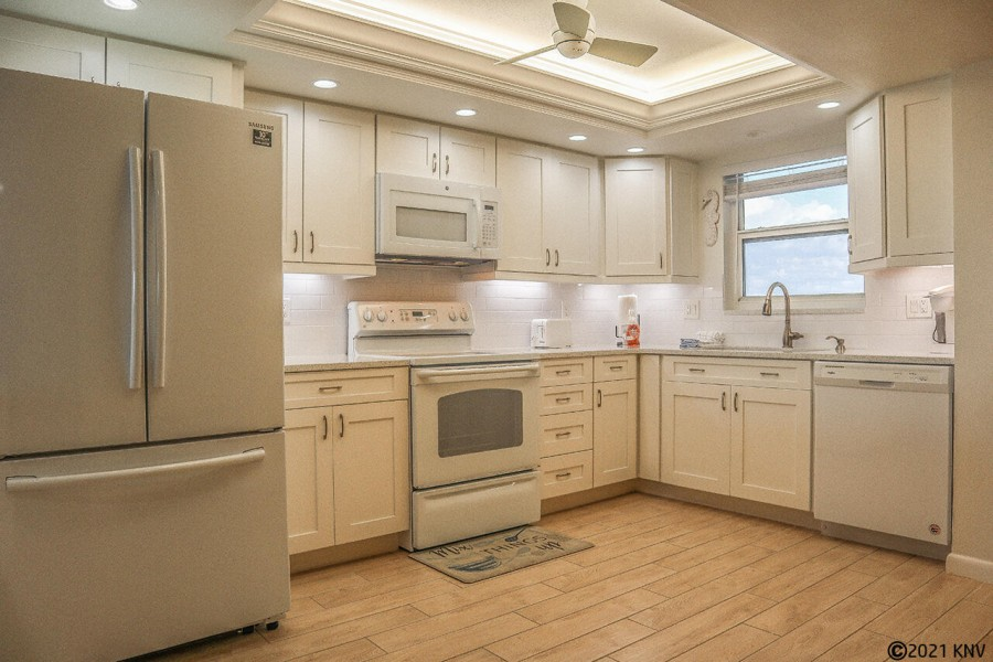 Quartz countertops and new appliances