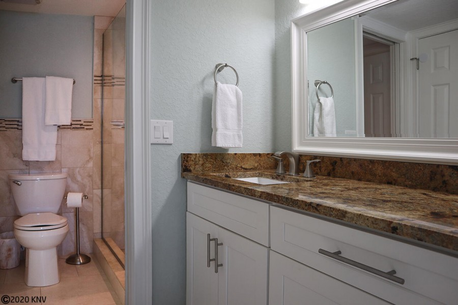 Large Vanity and Walk In Shower in Master Bath