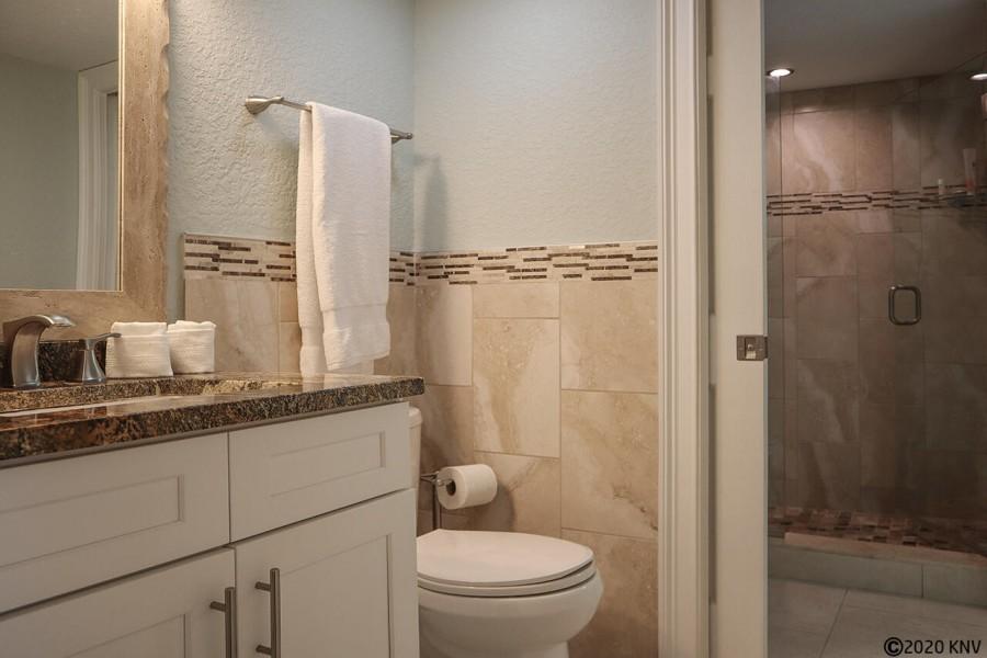 Guest Bath is a Half Bath with access to Master Bath Shower