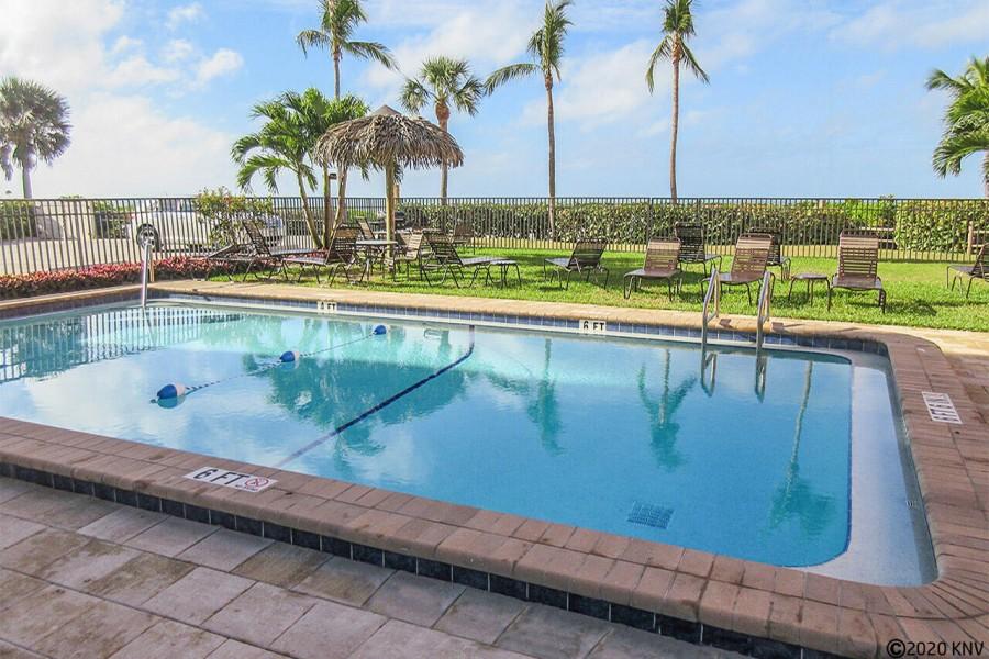 Heated Resort Pool at Villa Del Mar