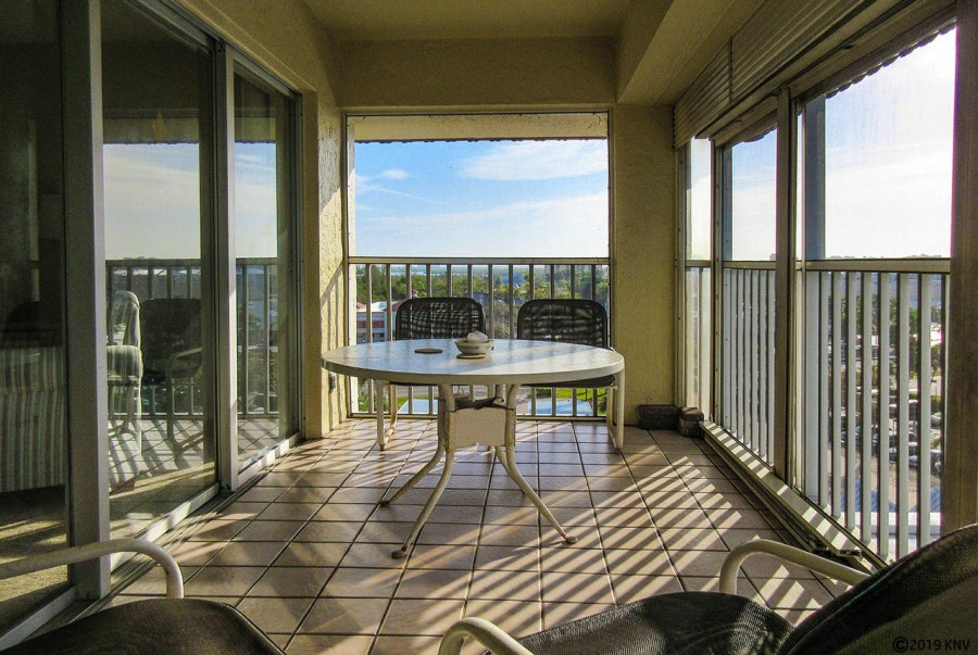 Take in the sea breezes on your lanai at Sand Caper 708